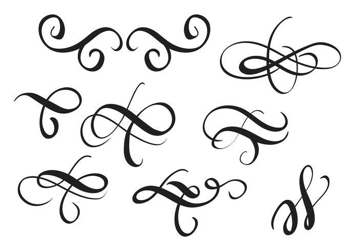 Conjunto de detalles decorativos vintage para el diseño. Ilustración vectorial eps10 vector