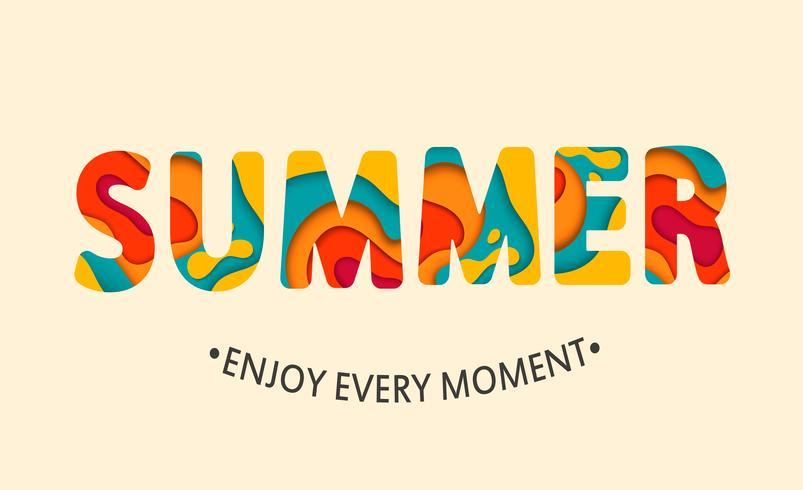 Summer card Enjoy every moment. 416235 Vector Art at Vecteezy