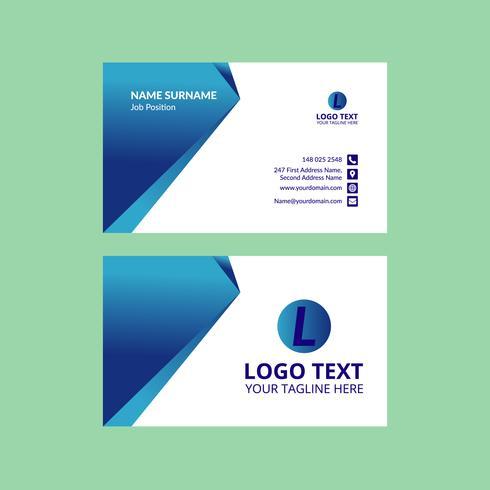 Blaue Visitenkarte Vorlage Download Kostenlos Vector