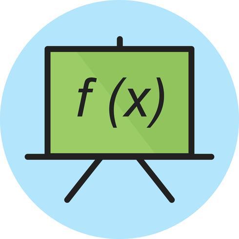 Formelzeile gefüllt Symbol
