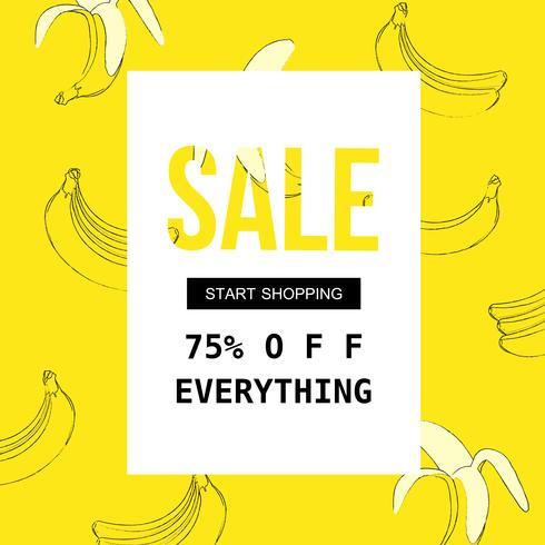 Cartel de venta para compras, descuento, venta al por menor, ilustración de vector de promoción de producto