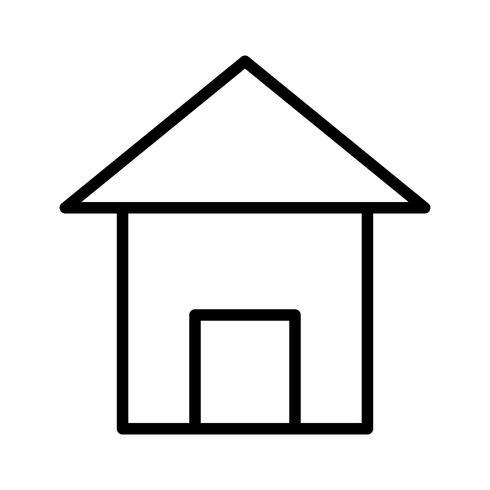 Linie schwarz Home-Symbol