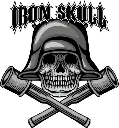 Aggressives Emblem Mit Totenkopf Download Kostenlos Vector