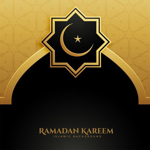 Goldener Moscheentür Ramadan Kareem Hintergrund