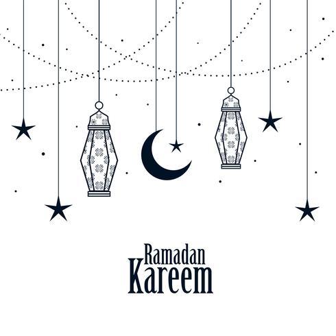 fundo de ramadan kareem islâmica decorativa