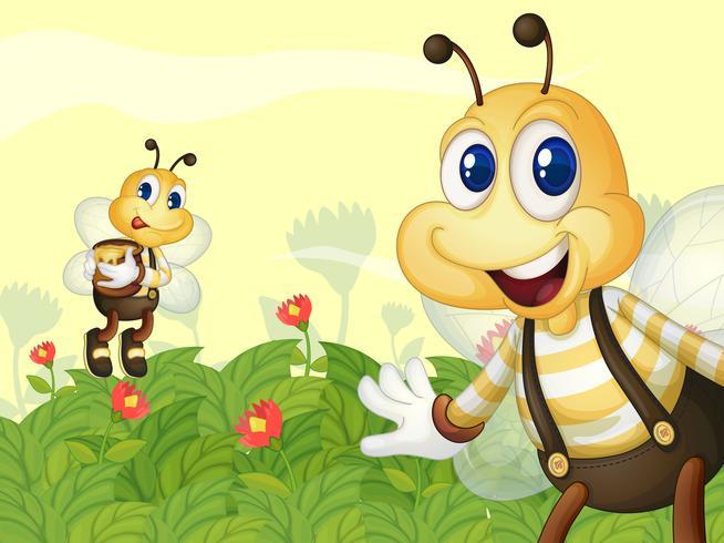 Honingbijen in de tuin