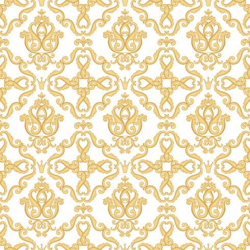 Seamless damask mönster.