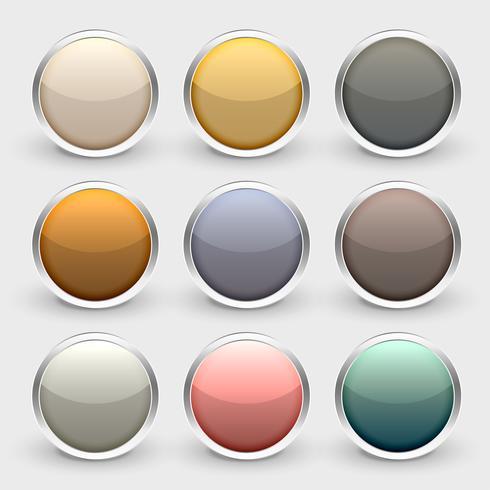 brillante metalizado brillante botones conjunto