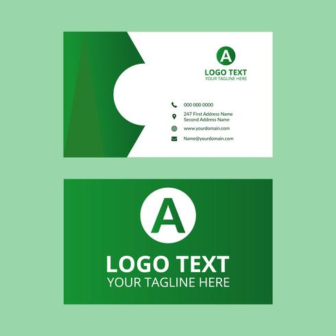 Grüne Visitenkarte Download Kostenlos Vector Clipart