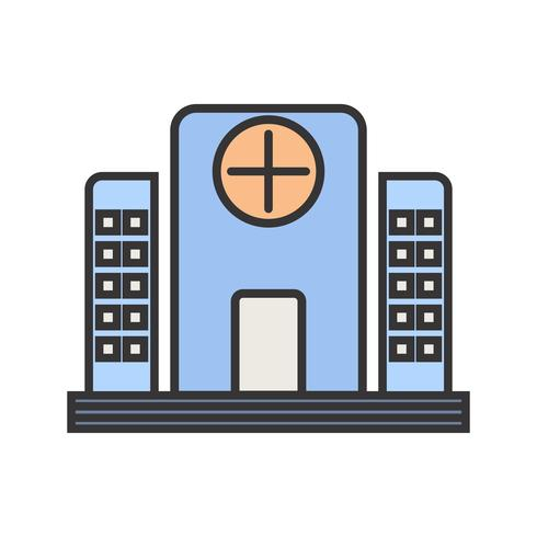 Hospital Line Filled Icon