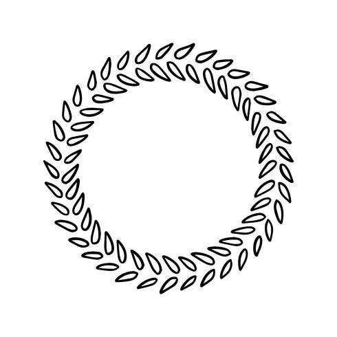 Wreath of leaves vintage vector