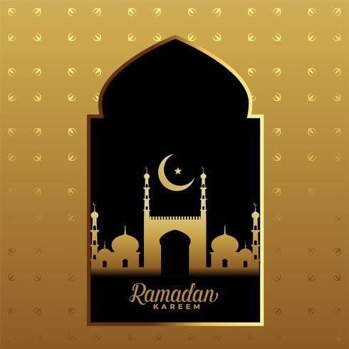 Premium-Ramadan Kareem Golden Festival Hintergrund