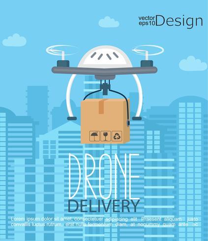 Begreppet leverans av dronen.