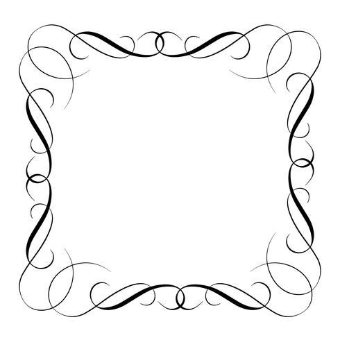 elements of vintage set decorative whorls for design. Vector illustration EPS10