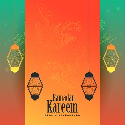 awesome ramadan kareem decorative background