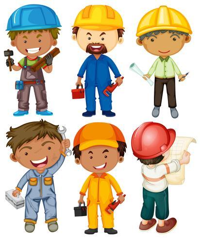 Persone che fanno diversi tipi di lavoro