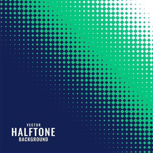 abstract blauw groen en wit halftone patroon
