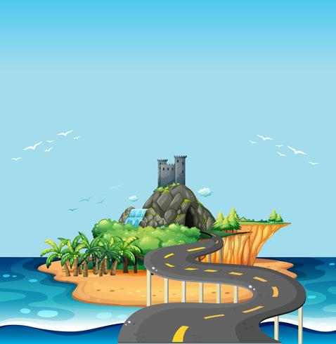 Road and island