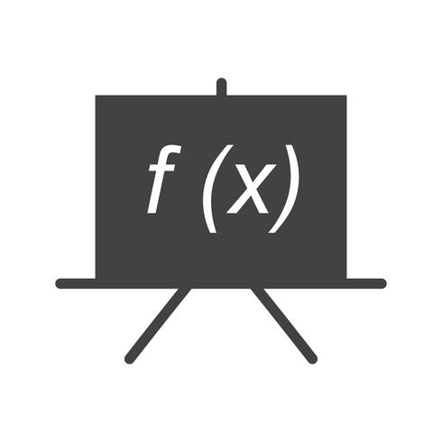 Schwarze Ikone der Formelglyphe