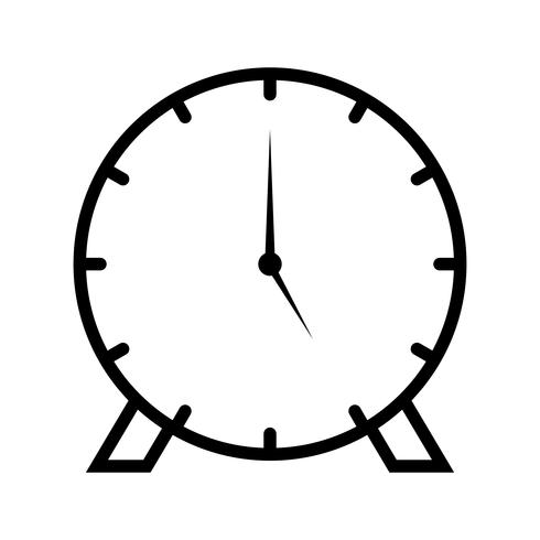 Klok lijn zwart pictogram