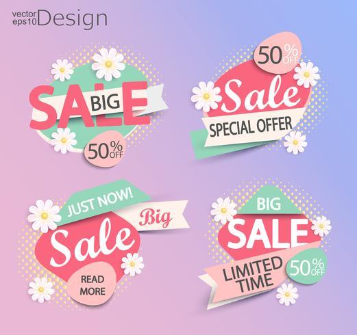 Sale - set of fashion color modern labels. vector