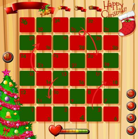 Jul tema spel med rött och grönt