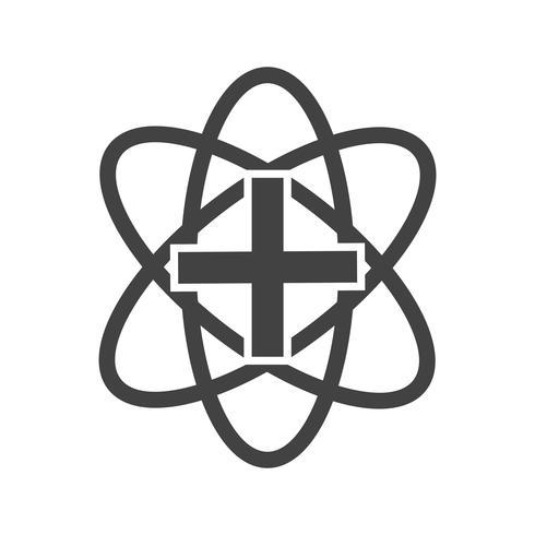 Icona del glifo del segno medico nero vettore