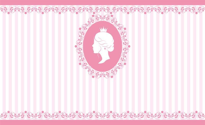 Diseño de fondo rosa vintage vector