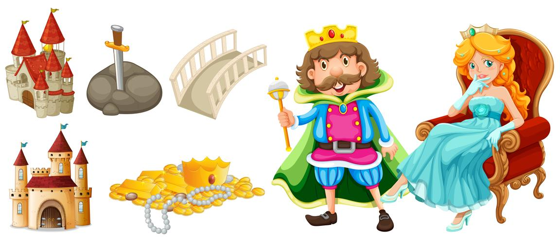 Fairytale characters and other elements