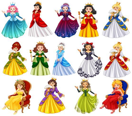 Personagens diferentes de rainhas
