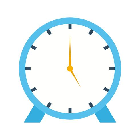 Clock flat multi color icon