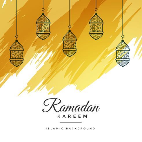 fond aquarelle abstrait ramadan kareem