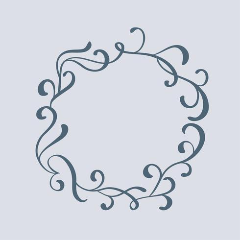 Cadre et bordures vintage décoratifs Art. Illustration vectorielle de calligraphie EPS10 vecteur