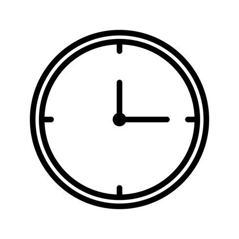 Clock Line Black Icon