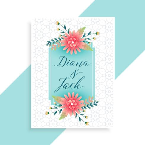 modèle de carte invitation mariage élégant