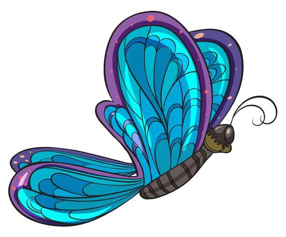 Un papillon coloré vecteur