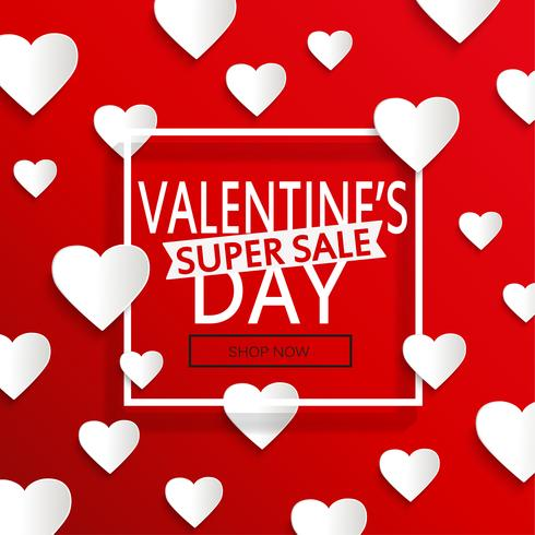 Valentines day super sale. vector