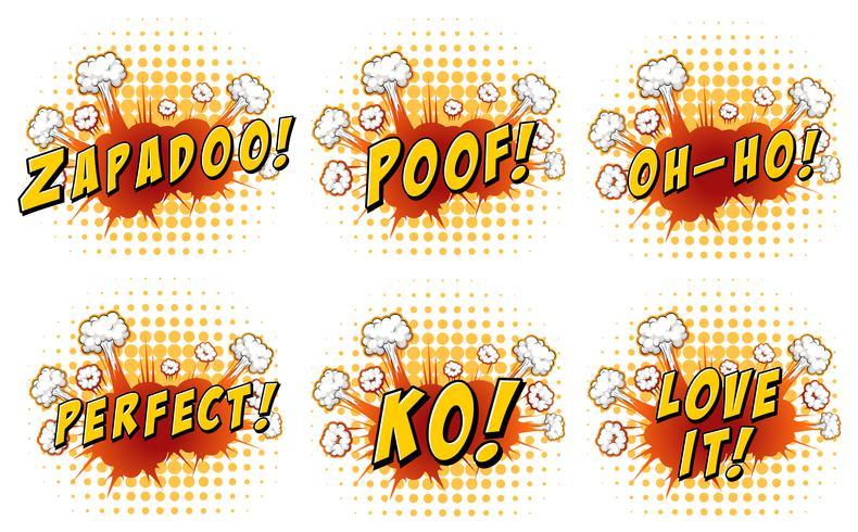 Words design on cloud explosion