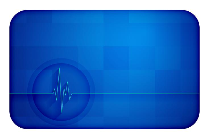 Diagrama de latido cardíaco cardiograph antecedentes