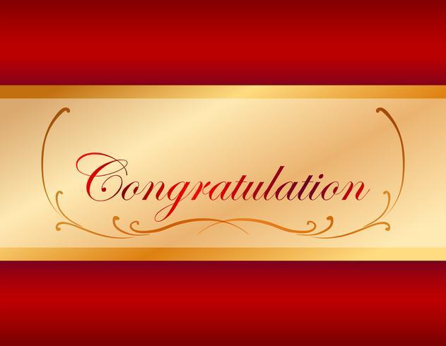 Glückwunschkartenschablone mit rotem Hintergrund