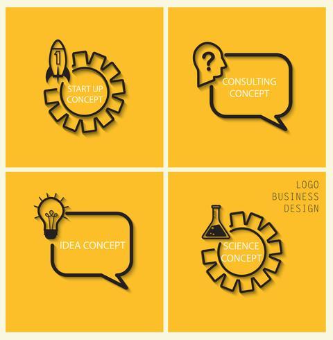 Vector Start, Idee, Beratung, Sciens Konzepte im flachen Stil.