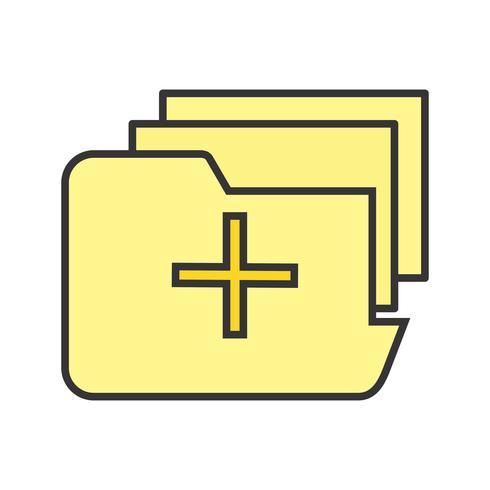Icona di cartella medica riempita