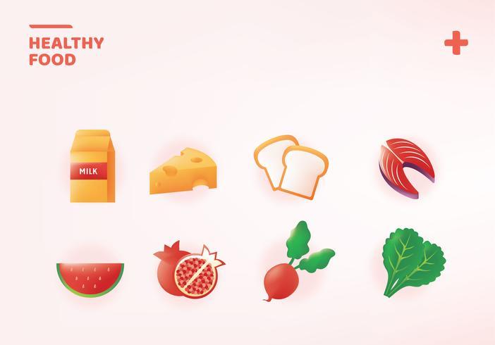 Pacote de alimentos saudáveis