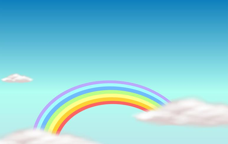 Ein Regenbogen am Himmel