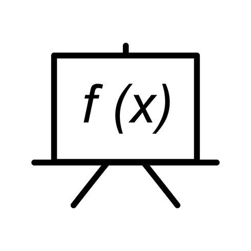 Icona della linea nera di formula