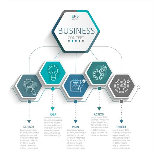 Infografía para empresas. vector