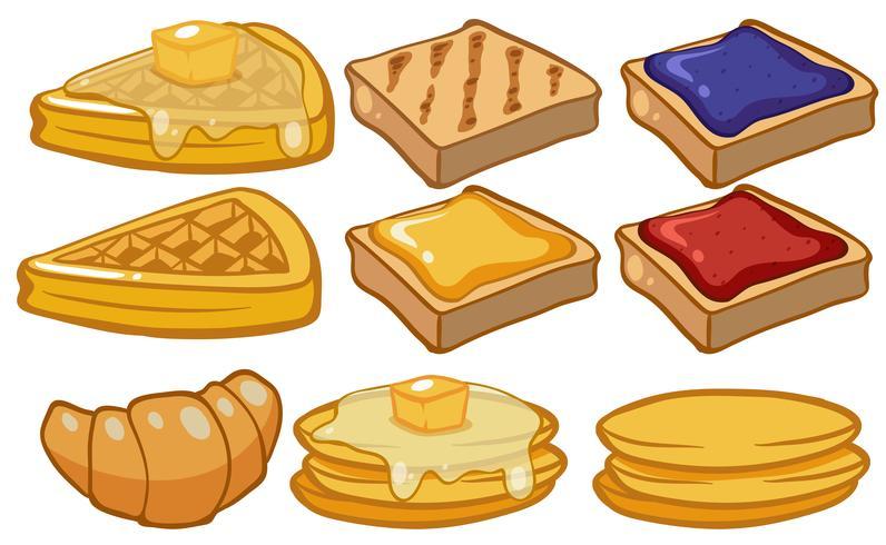 Différents types de pain au petit déjeuner