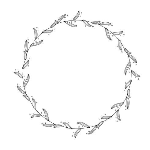 Runde Flourishweinlese dekorative Whorlsrahmenblätter lokalisiert auf weißem Hintergrund. Vektorkalligraphieabbildung EPS10