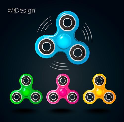 Fidget spinner ikoner. vektor