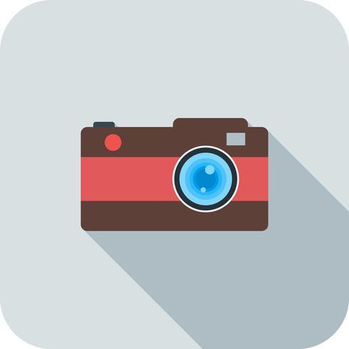 Kamera flach lange Schatten-Symbol